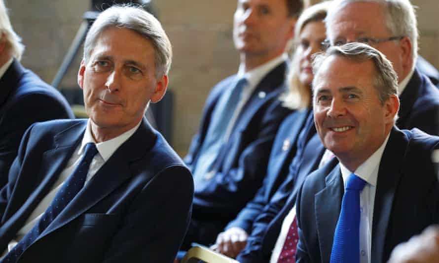 Chancellor of the exchequer Philip Hammond (left) and international trade secretary Liam Fox.