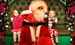 Father Christmas Meets Children At Harrods<br>
