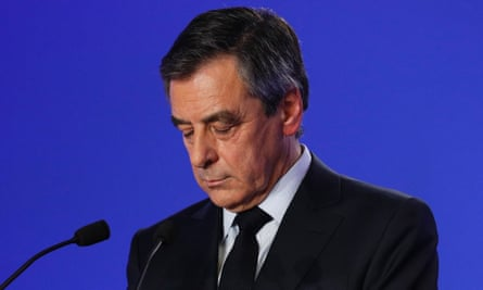 François Fillon at a press conference in Paris