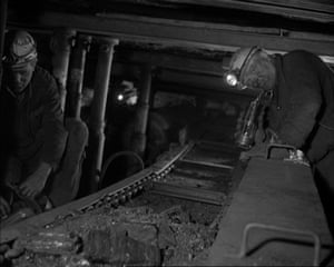A still from Peter Pickering's Nobody's Face, a 1966 National Coal Board training film.