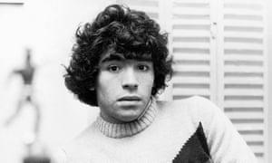Diego Maradona in the late 1970s.