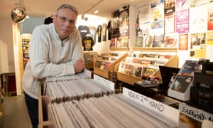 Alan Rowett in The Vault record store
