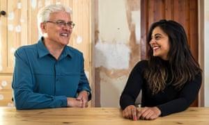Nosheen Iqbal with her former teacher Malcolm Ellison.