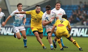 Sale's Tom Curry was man of the match in their victory over La Rochelle.