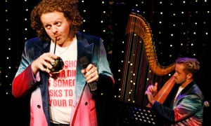 Delicately underscored … Jack Rooke with Alexander Thomas on harp.