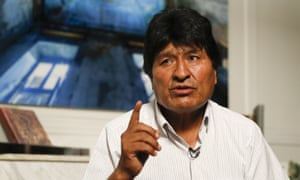 Former Bolivian President Evo Morales speaks during an interview with The Associated Press in Mexico City, Thursday, Nov. 14, 2019. Mexico granted asylum to Morales, who resigned on Nov. 10, under mounting pressure from the military and the public after his re-election victory triggered weeks of fraud allegations and deadly protests. (AP Photo/Eduardo Verdugo)