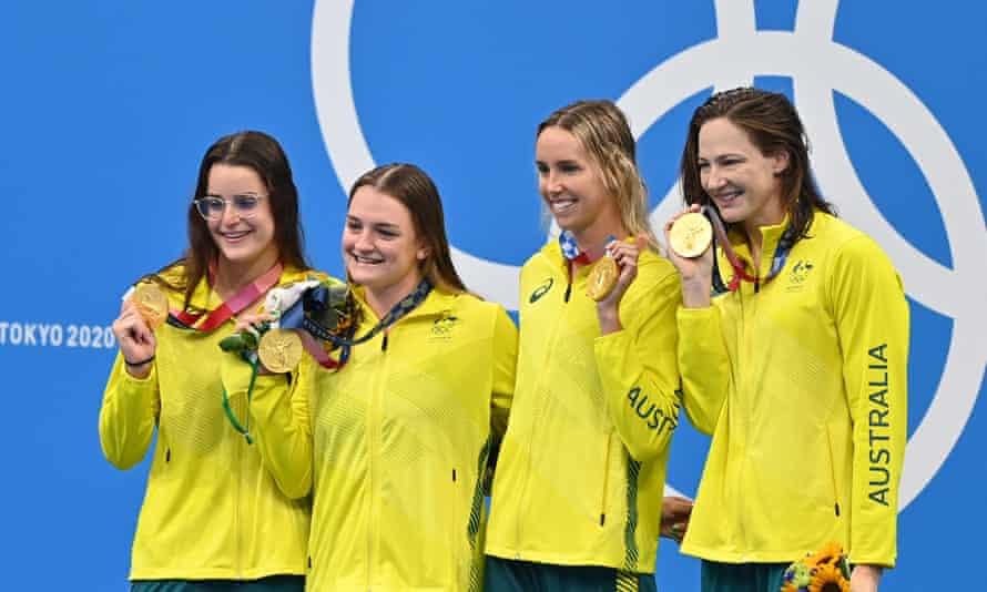 Australia's gold medal-winning 4x100m medley relay team