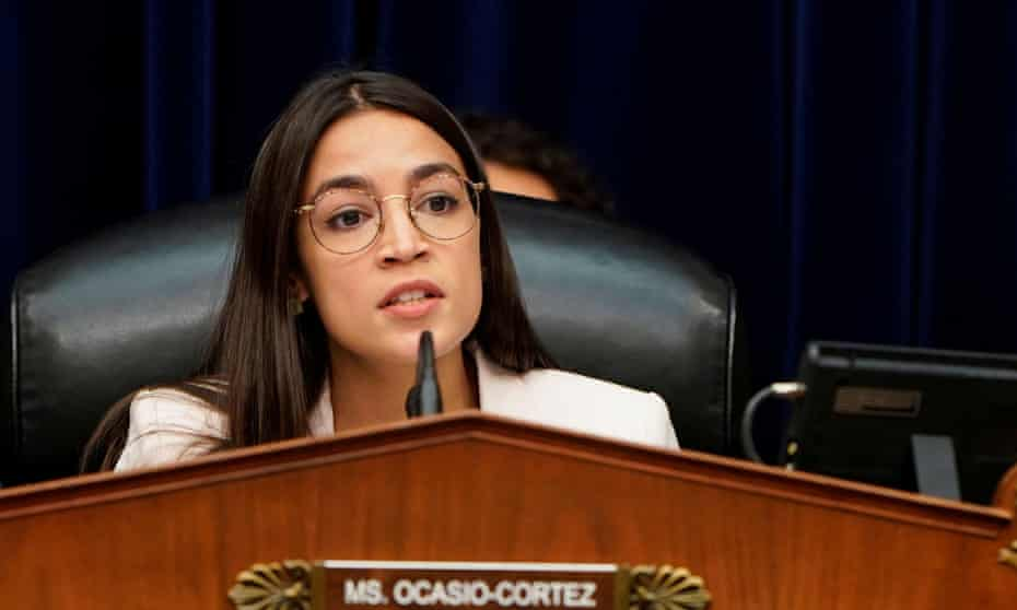 Congresswoman Alexandria Ocasio Cortez told the Guardian: 'I'm not close to an endorsement announcement any time soon.'
