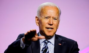 FILES-US-VOTE-DEMOCRATS-DEBATE<br>(FILES) In this file photo taken on July 24, 2019 Democratic 2020 presidential candidate Joe Biden addresses the Presidential Forum at the NAACP's 110th National Convention at Cobo Center in Detroit, Michigan. - Moderate frontrunner Joe Biden takes center stage for the second leg of the Democratic presidential debates on July 31, 2019y after the first night exposed fault lines between the party's centrists and its progressive wing.The former vice president -- who is polling streaks ahead of his rivals for the nod to take on President Donald Trump next year -- is expected to come out re-energized and battle-ready after a lackluster debate performance last month. (Photo by JEFF KOWALSKY / AFP)JEFF KOWALSKY/AFP/Getty Images