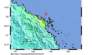 United States Geological Survey quake map