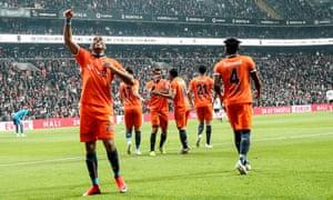 Robinho celebrates after scoring at Besiktas but Başakşehir suffered their first defeat of 2019 there.