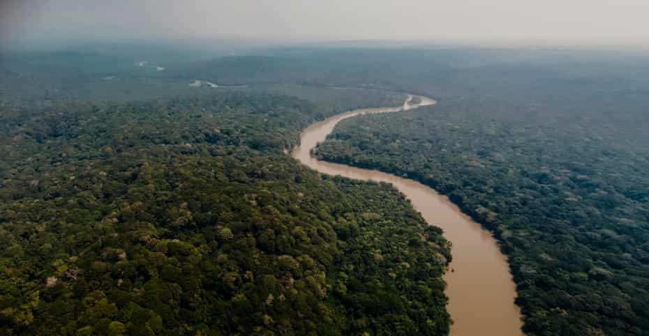 The Semuliki River is seen running through the Semuliki Valley.