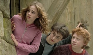 Emma Watson, Daniel Radcliffe and Rupert Grint as Hermione, Harry and Ron