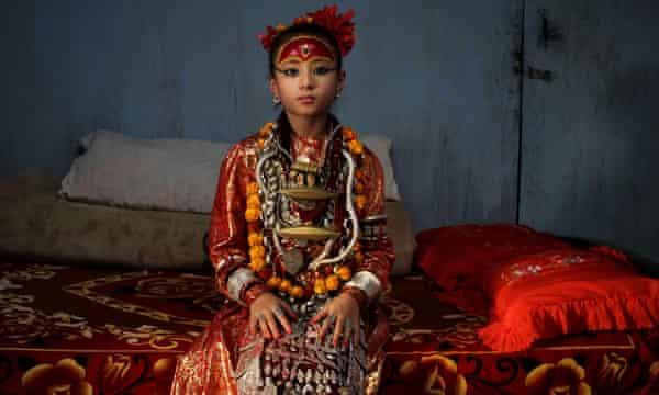 In 2010 Nepal's newly appointed nine-year-old living goddess of Patan city, Samita Bajracharya, nine, was appointed living goddess of Patan city after Chanira Bajracharya reached puberty .