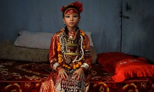 In 2010 Nepal's newly appointed nine-year-old living goddess of Patan city, Samita Bajracharya, nine, was appointed living goddess of Patan city after Chanira Bajracharya reached puberty .