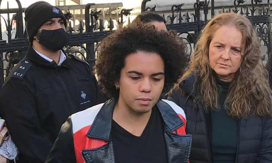 Keira Bell outside the Royal Courts of Justice after the high court ruling on 1 December.