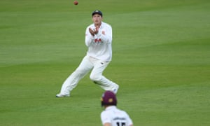 Tom Westley of Essex takes the catch to dismiss George Bartlett/