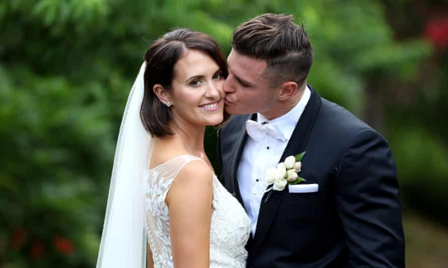 Married at First Sight Australia contestant Simone Lee Brennan with her TV 'husband'