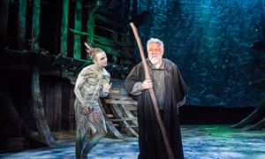 Private guilt and public prayer … Mark Quartley and Simon Russell Beale in The Tempest at the RSC.