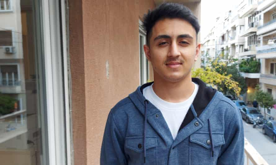 Ahtisham Khan who arrived in Greece from Pakistan at the age of 16, in Athens