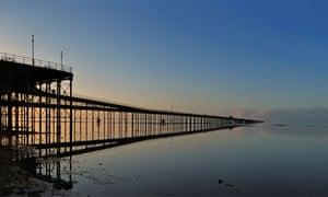 Southend pier at sunrise