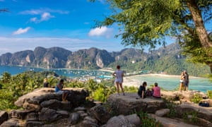 Tourists on Phuket in 2016. The Covid pandemic has wrecked the regional economy.Photograph: Adrian Baker/Alamy