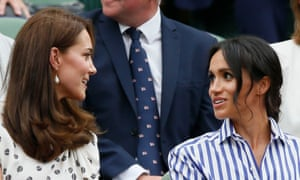 The duchesses of Cambridge and Sussex at Wimbledon this summer