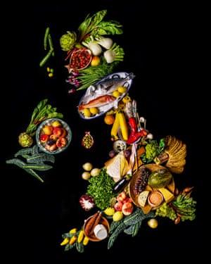 map of britain in food
