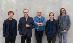 'Tight as family': Aaron Dessner, Scott Devendorf, Matt Berninger, Bryce Dessner and Bryan Devendorf photographed in Copenhagen earlier this month for the Observer New Review.