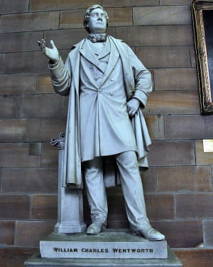 The statue of William Wentworth at Sydney University