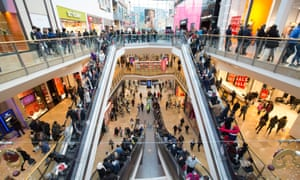Shoppers at the Bullring shopping centre in Birmingham