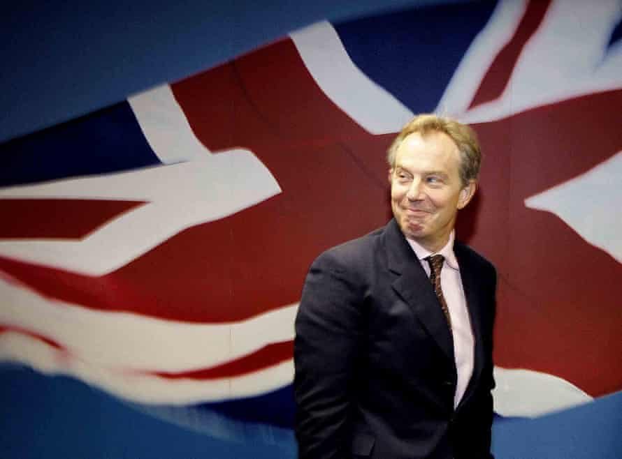 Tony Blair at Heathrow airport, London, in 2004.