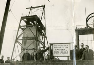 Clifton Colliery, 1947. The unveiling of a sign marked the nationalisation of the coal industry