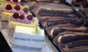 Patisserie Valerie cakes on display
