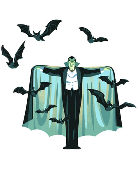 Illustration for Dracula in Review 4 January Literary calendar 2020
