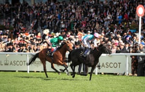 Biometric ridden by Harry Bentley on the way to winning the Britannia Stakes.