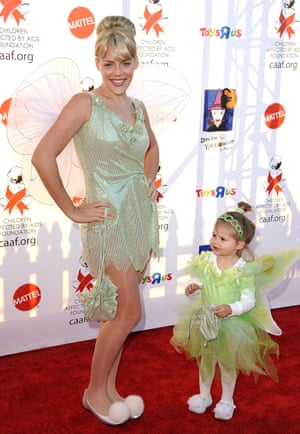 2010 Busy Philips and daughter Birdie Leigh Silverstein as fairies