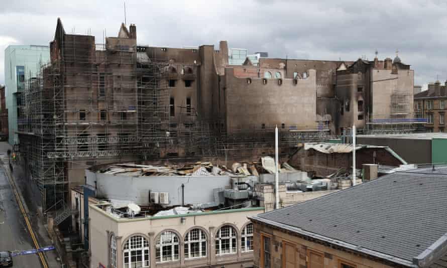 Fire damage at Glasgow School of Art
