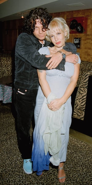 Michael Hutchence and Paula Yates in London in 1996