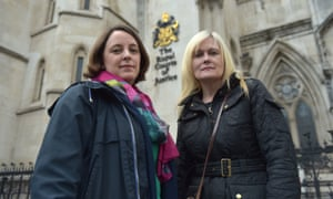 Two parents of children with special educational needs outside court
