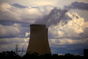 The Bayswater coal-powered thermal power station near the central New South Wales town of Muswellbrook, Australia.