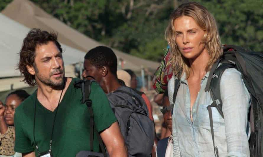 'What could have been an earnest drama about brutality and poverty in Africa quickly becomes a laughable stinker' ... Javier Bardem and Charlize Theron in The Last Face.