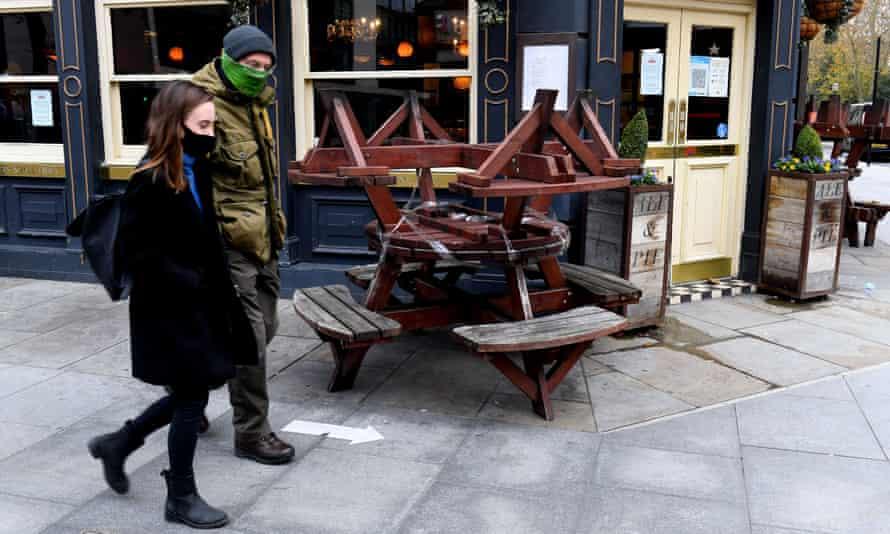 Closed pub in London