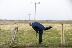 Billy Muir tends the sheep
