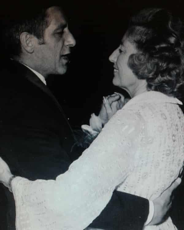 Jan Loos dancing with Vera Lynn at a charity ball in Amsterdam