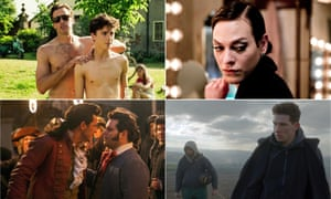 Clockwise from bottom left: Beauty and the Beast, Call Me By Your Name, A Fantastic Woman and God's Own Country.