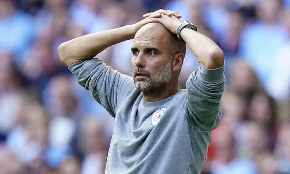 Pep Guardiola during Manchester City's goalless draw with Southampton