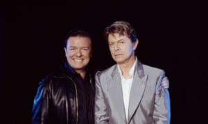 Ricky Gervais and David Bowie.