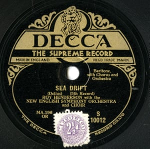 Sea Drift Released in June 1929, Drift was one of the very first releases on Decca. It was a three-record set of one of Whit Whitman's poems set to music. It's a fascinating work, very of its era but quite charming