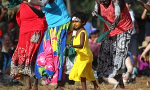 A child dances during the bunggul, or traditional dance, at the Garma festival